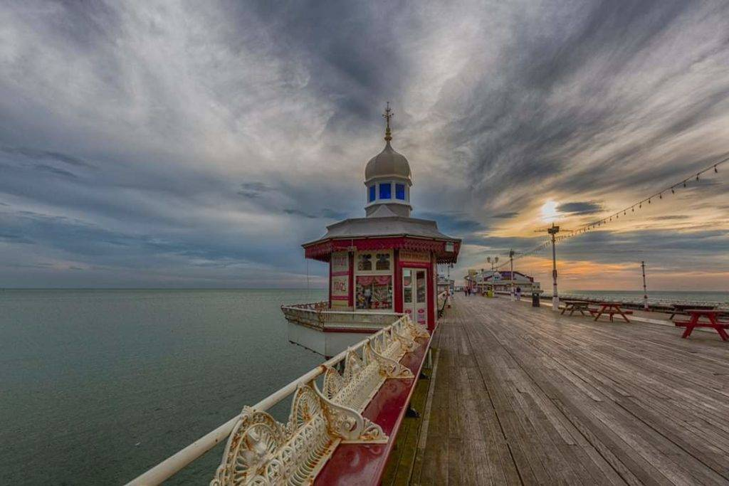 Blackpool North Pier on a warm evening by Lisa poolphotography @artpool40