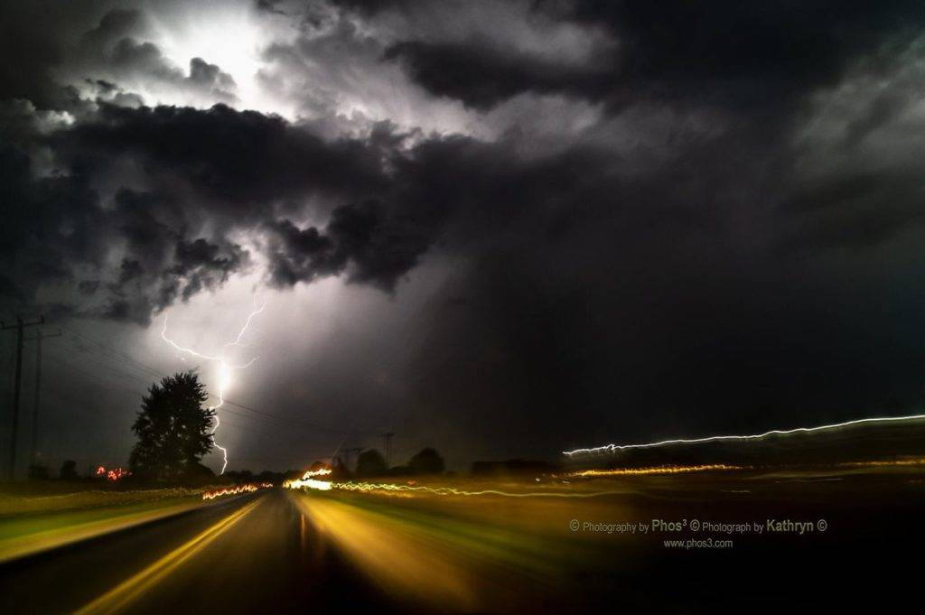 Chasing a storm down Highway 3 by PhotographybyPhos3 @_phos3