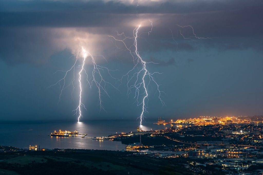 Lightning over Trieste by Christophe Suarez @suarezphoto