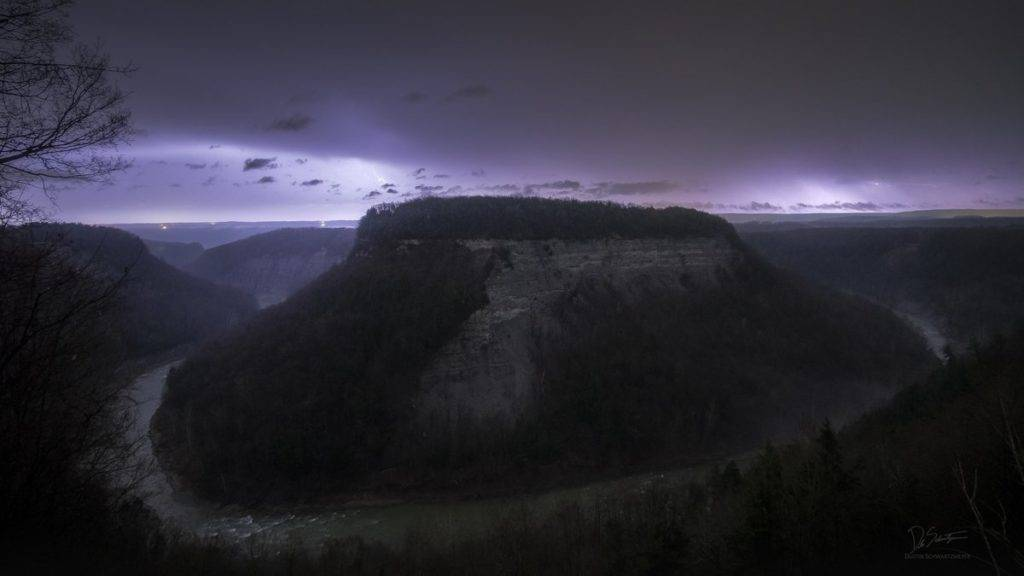 Severe storms roll thru Letchworth State Park Sunday night in NY by Dustin Schwartzmeyer @D_Schwartzmeyer
