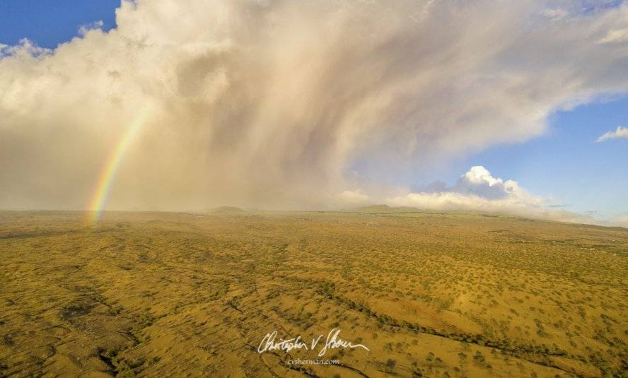 Storm and rainbow on the far east side of the Big Island of Hawai'i, near Lapakahi State Historical Park by Christopher Sherman Photography @cvsherman