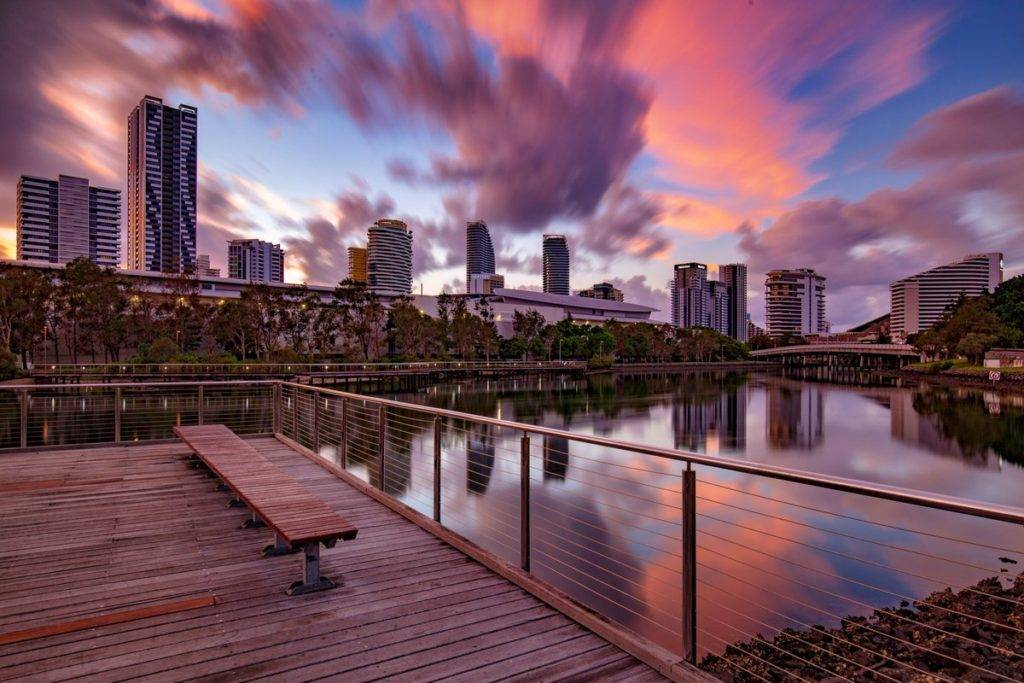 Sunrise from Broadbeach on the Gold Coast by dean johnson @_deanjohnson_