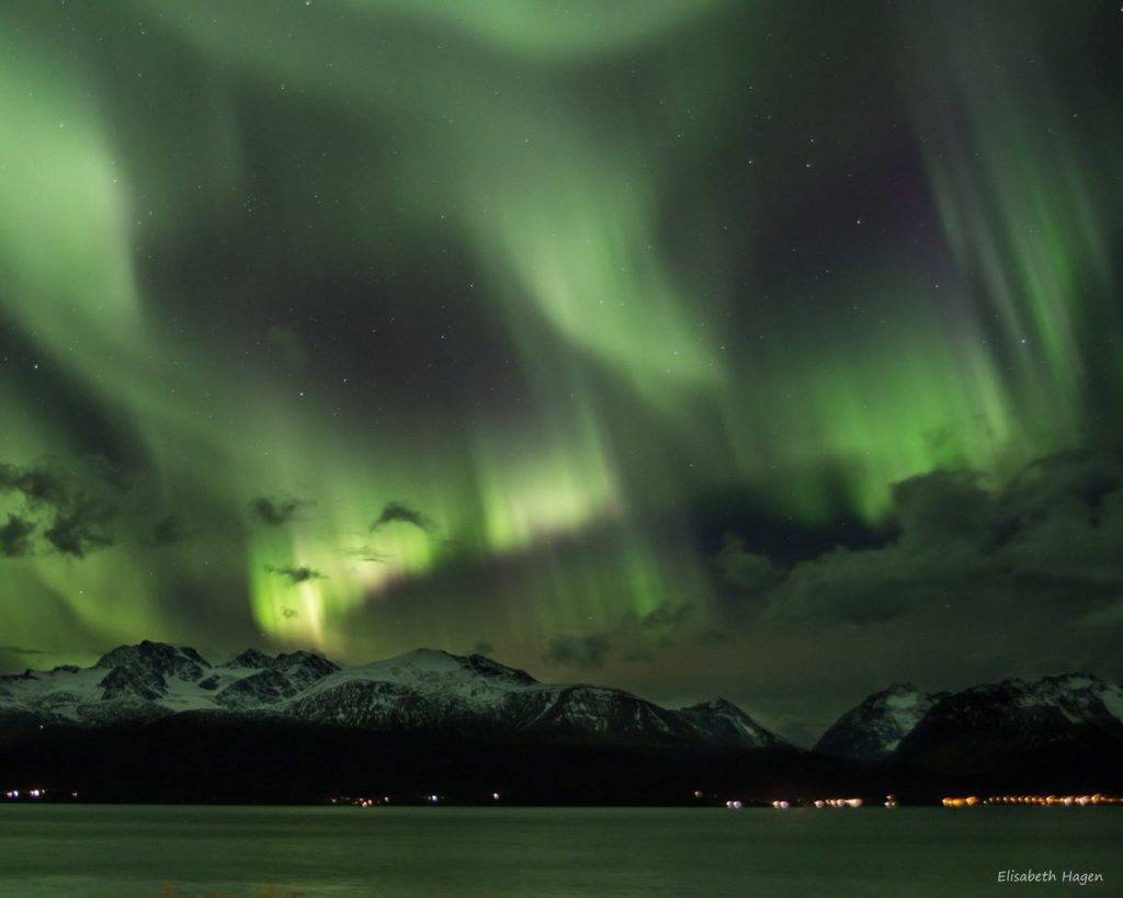 The northern lights over Norway by Elisabeth Hagen @ElisabethHag1
