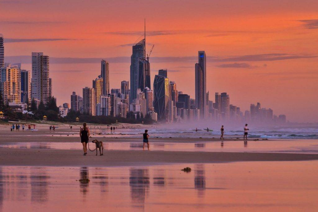 Where the city meets the ocean . Gold Coast - Australia by Glen Anderson @Gleno_