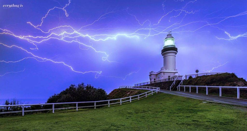 1st Place A supercell over the historic Byron Bay Lighthouse the most easterly point of the Australian mainland by Benjamin B. Alldridge @norks