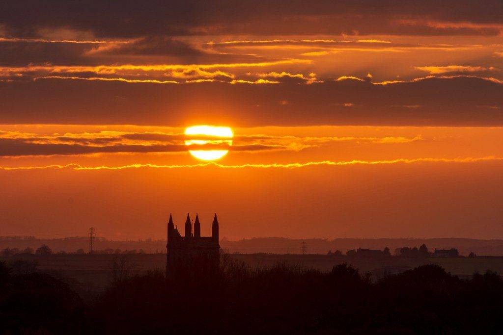 3rd Place Sunset over Whissendine church in Rutland by Richard @Photo_Rutland