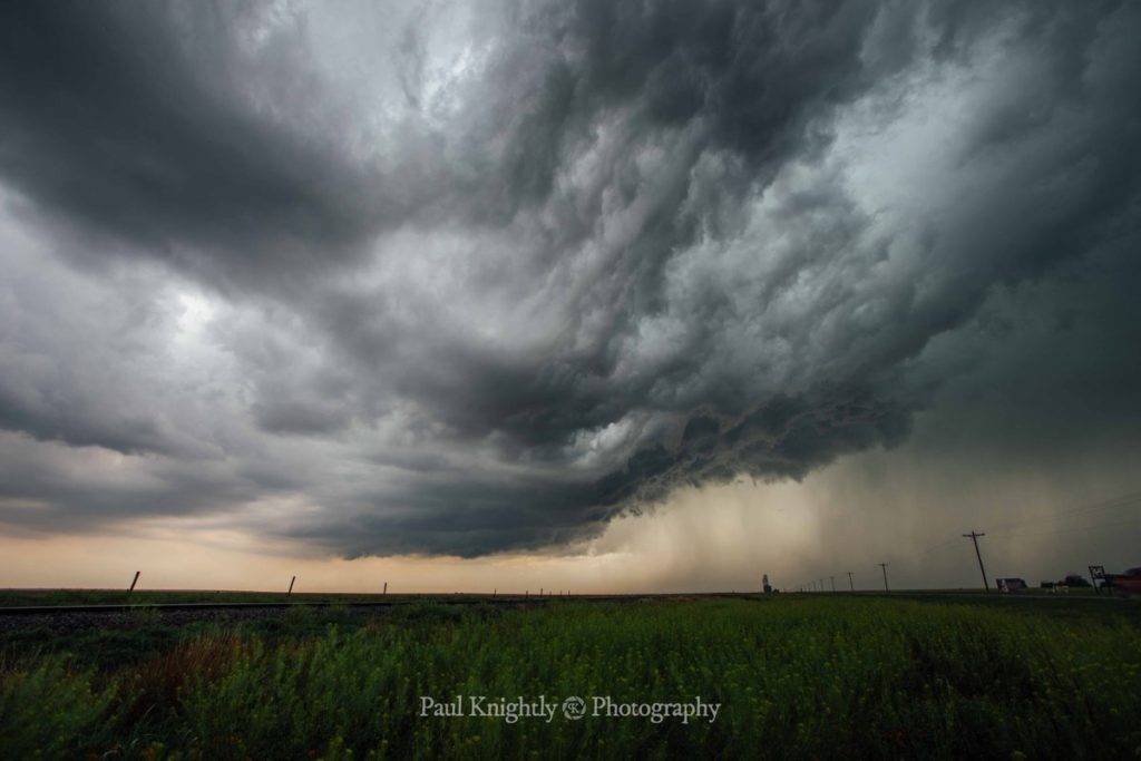 A grungy supercell crosses the Kansas/Colorado state line by Paul Knightly Photography @KnightlyPhoto