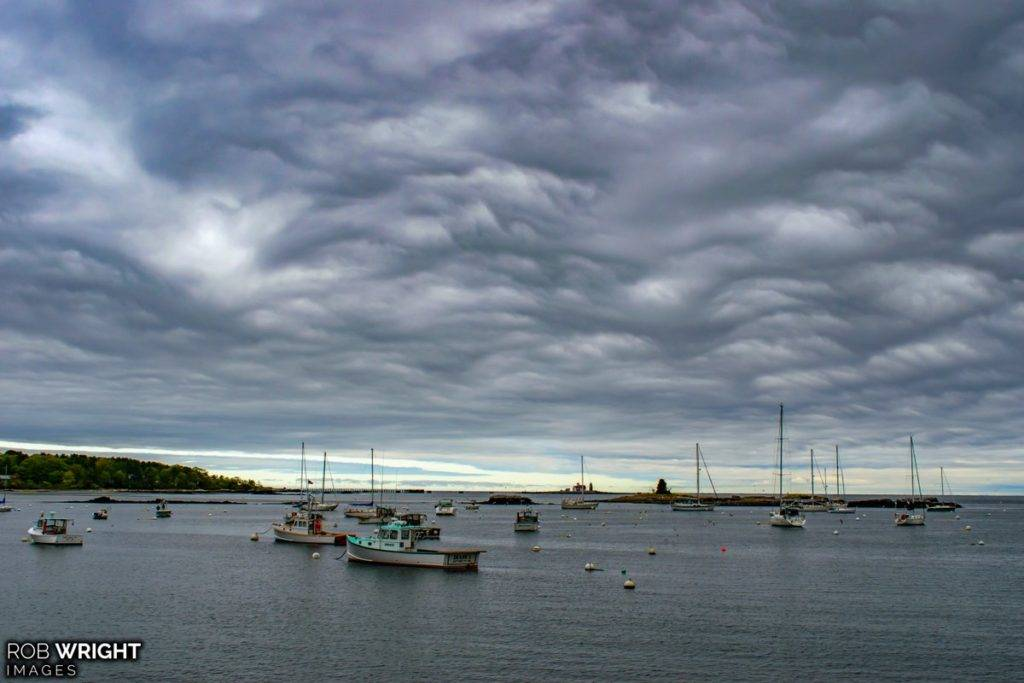 Asperitas clouds at Pepperell Cove in Kittery Point by Rob Wright Images @RobWrightImages