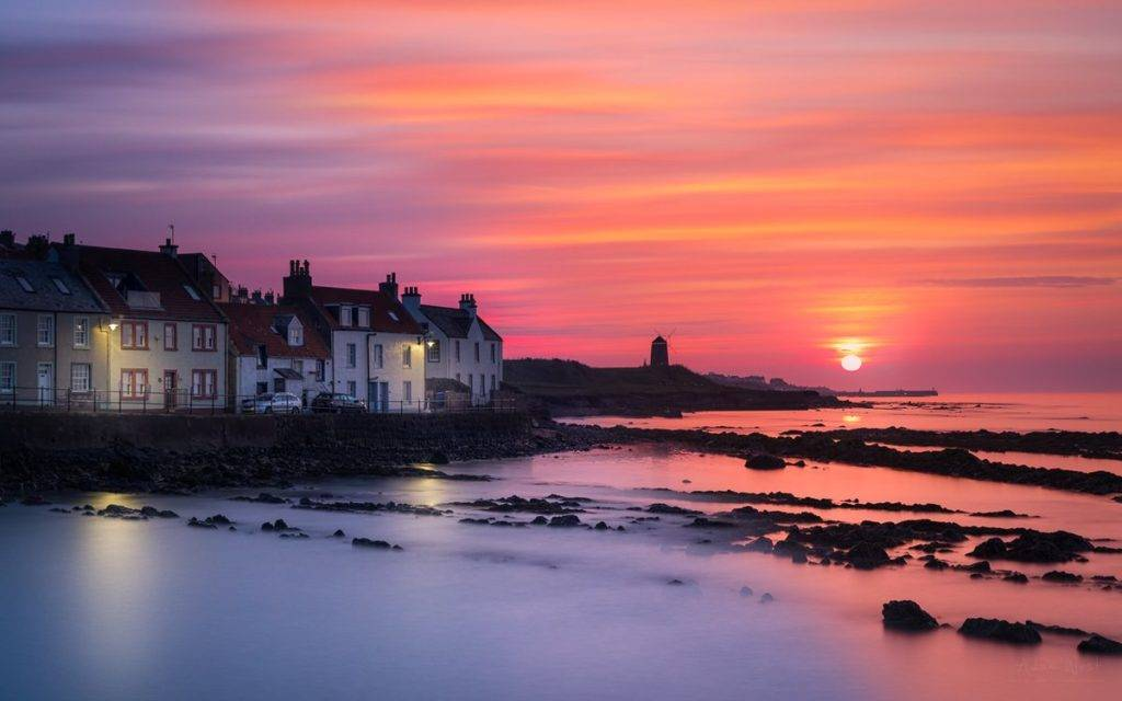 Blue To Gold. Sunrise over the beautiful fishing village of St Monans by Adam West @adamwestphoto