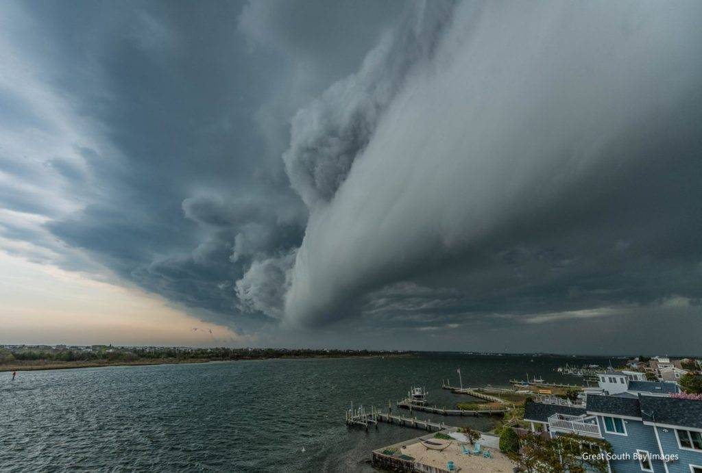 Classic Shelf Cloud over Captree Island NY by Mike Busch/Greatsouthbayimages @GSBImagesMBusch