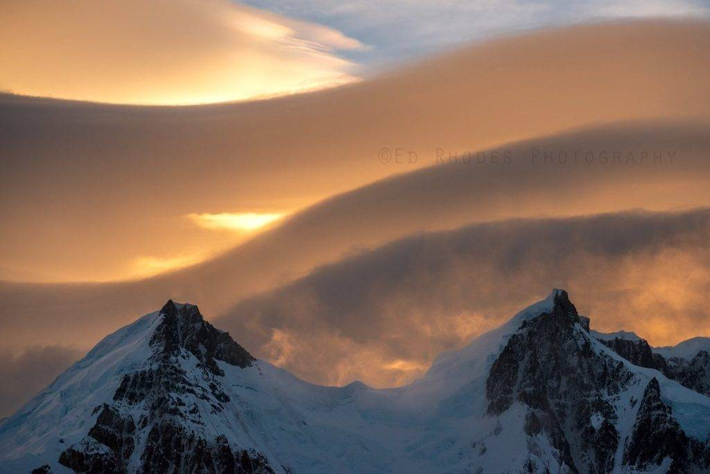 Lenticular clouds Patagonia by Ed Rhodes @EdRhodesImages