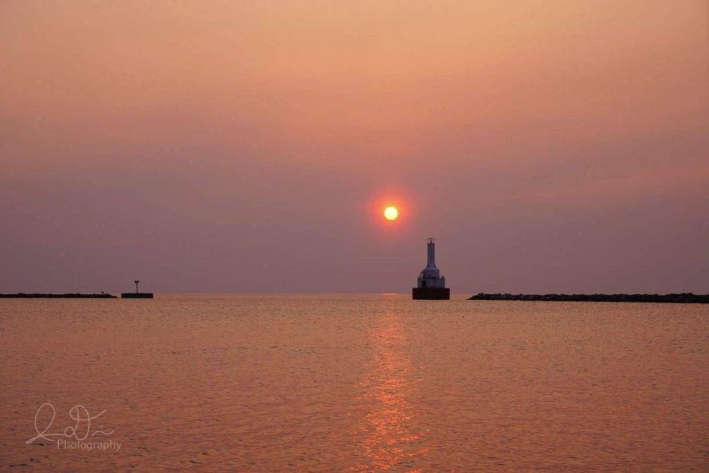 Smokey sunset at McLain State Park in Hancock, MI by Isaac @ID_Photo_Graphy