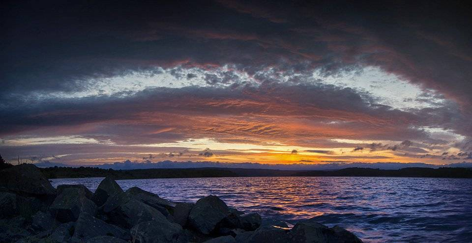 Sunset over Kielder Water, Northumberland by Corvid Tales @CorvidTales