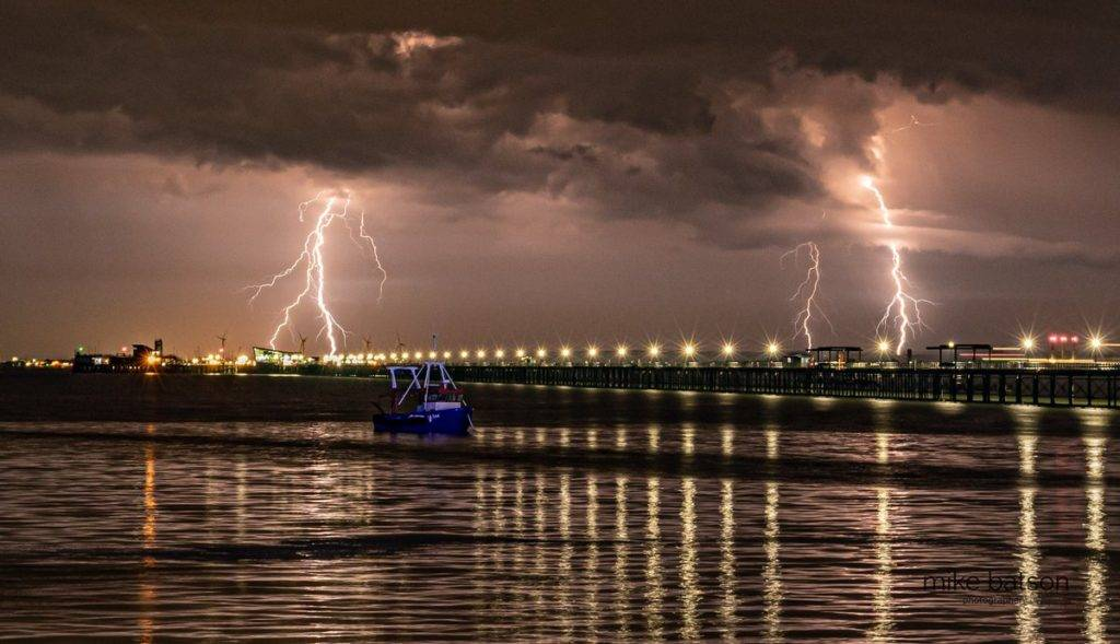 3rd Place Lightning strikes over Southend Pier by Mike Batson @mikebatson5d