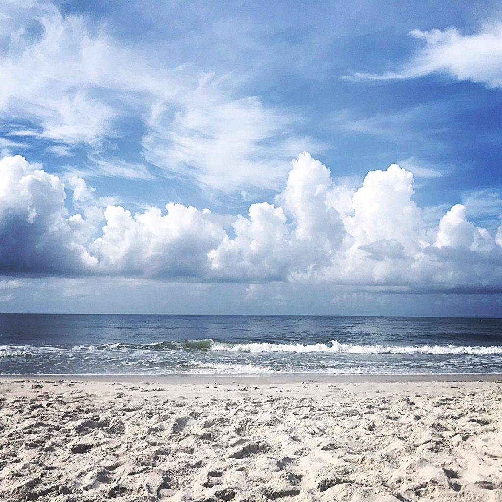 Cumulus congestus clouds off the coast of Alabama by Jake Dunne @Jake_WPMI