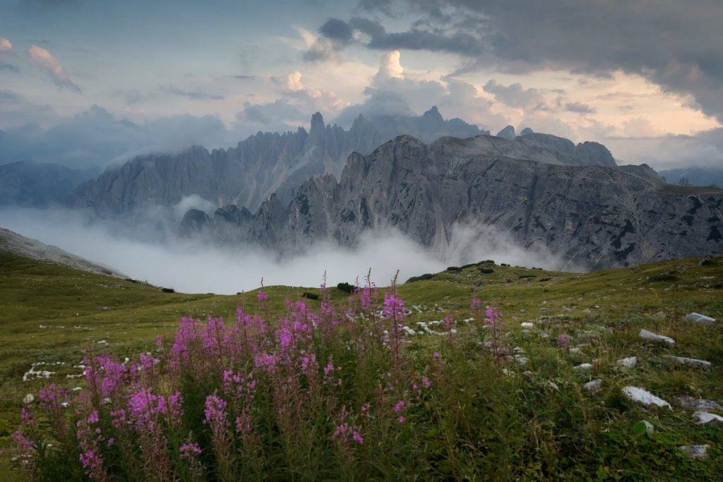 Fog drifting in over the Dolomites in Italy Serena Dzenis @serenavsworld