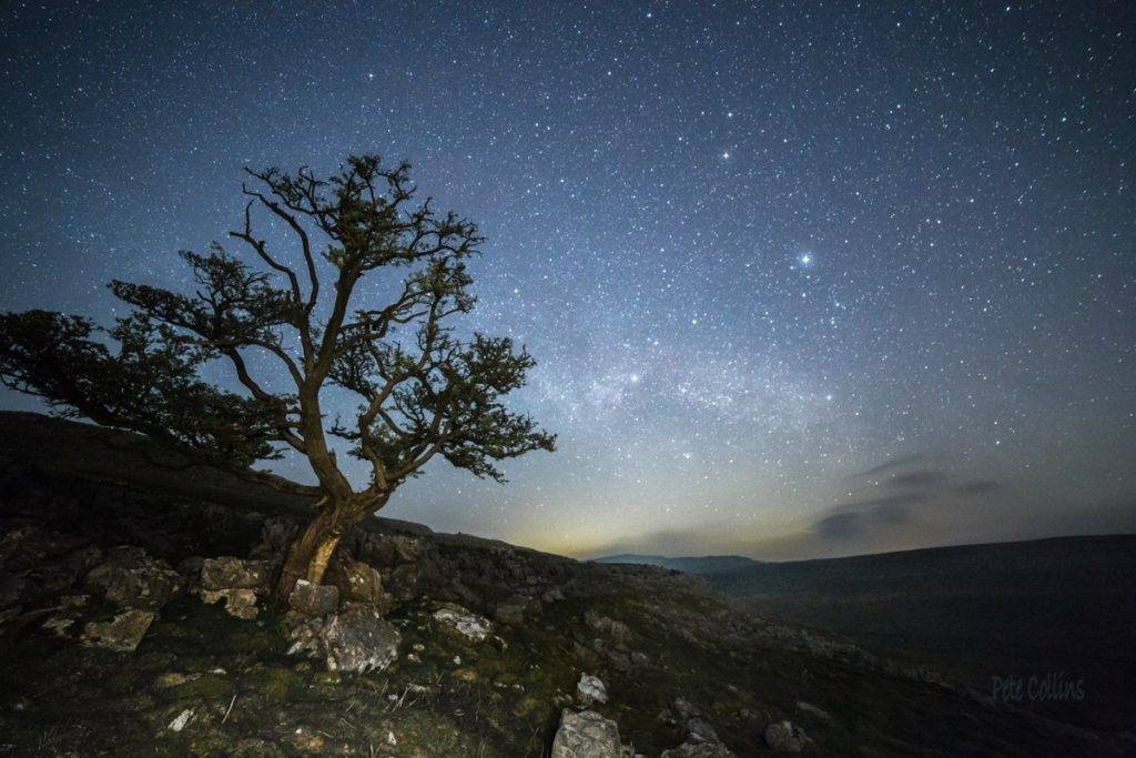 Milky Way rising over Whernside from Keld Head Scar above Kingsdale by Pete Collins @diamondskies99