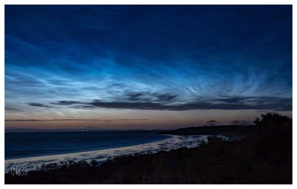 Noctilucent clouds, Gullane beach, East Lothian, Scotland by Glass Photography @GlassFotos