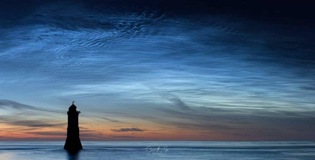 Oceans in the Sky. A beautiful display of Noctilucent Clouds on Saturday morning by Gareth Mon Jones @gazmon1980