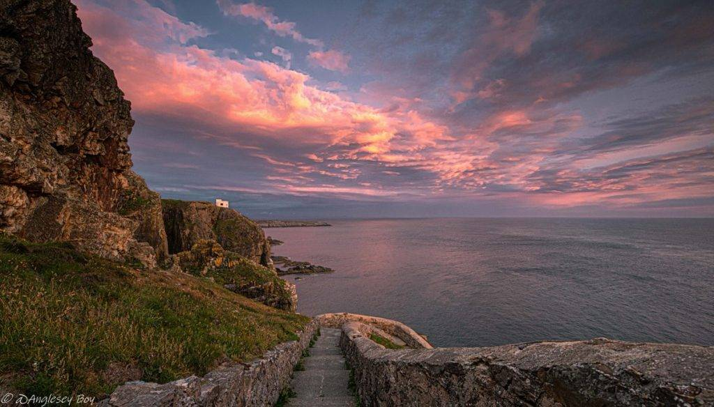 Steps leading down to the South Stack lighthouse, Anglesey by Phil Taylor @angleseyboy