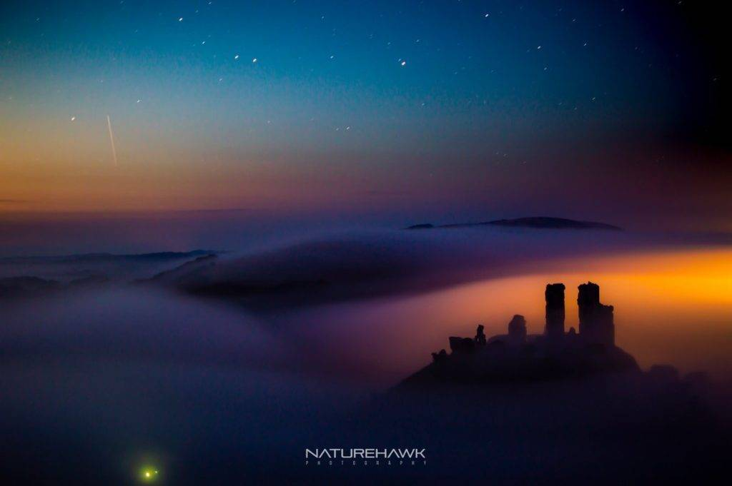 Sublime conditions during an astro shoot at Corfe Castle Naturehawk Photo @NaturehawkPhoto