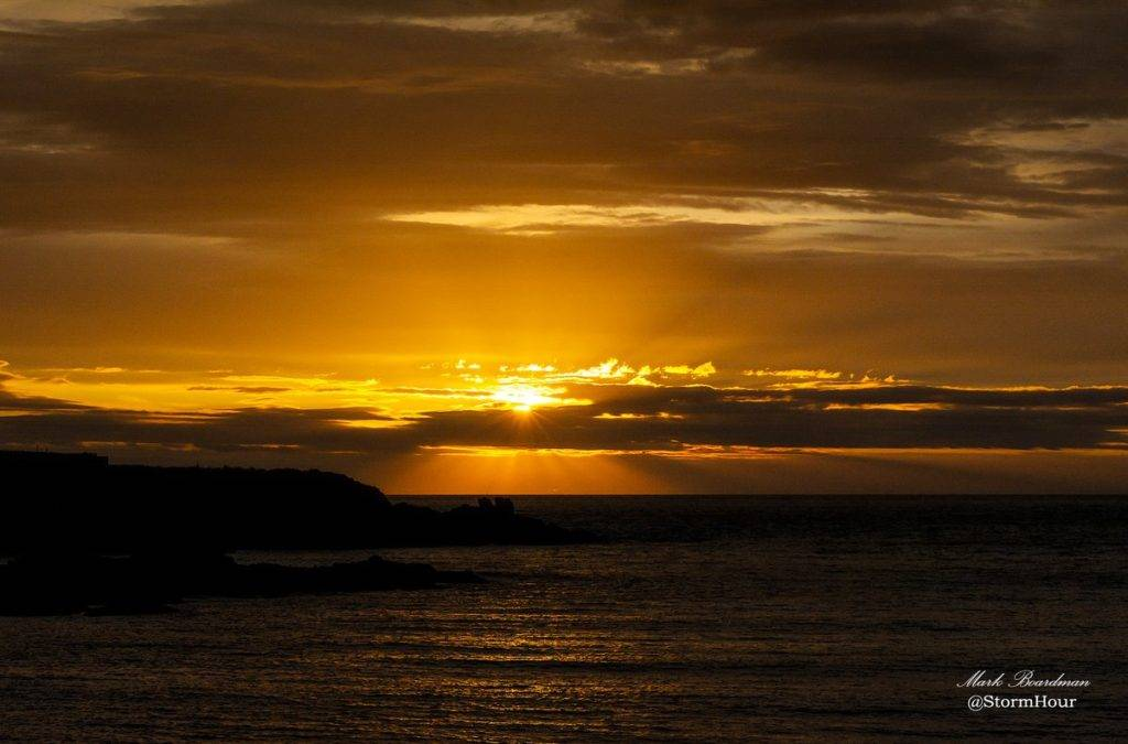 Sunset over Cemaes Bay by Mark Boardman @StormHourMark