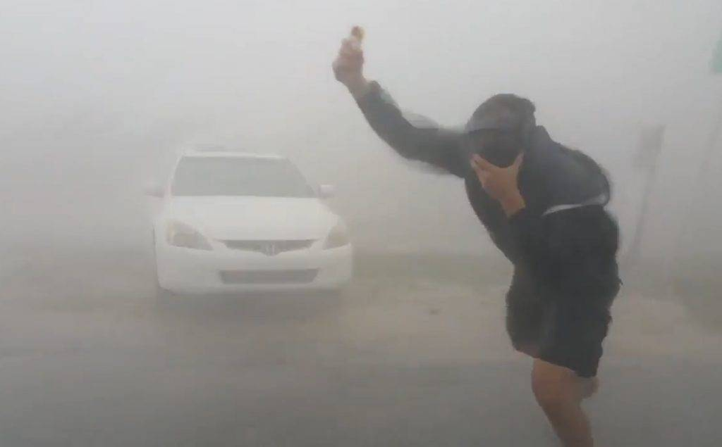 Simon Brewer measuring 117 mph wind gust in eyewall of landfalling CAT 4 Hurricane Irma in 2017S