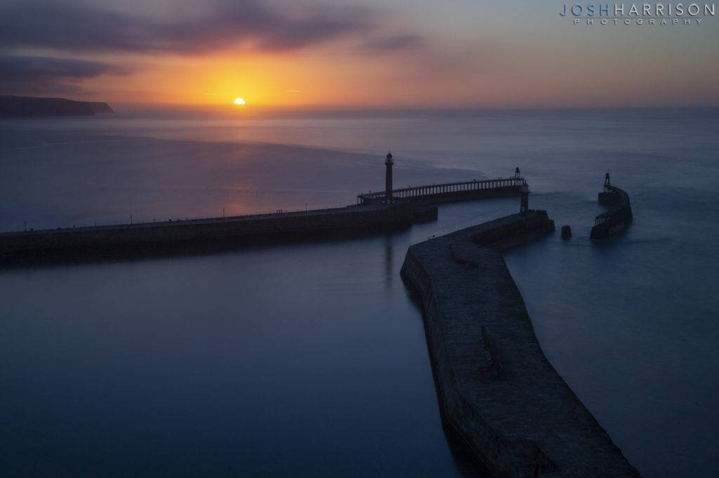 whitby-harbour-sunset