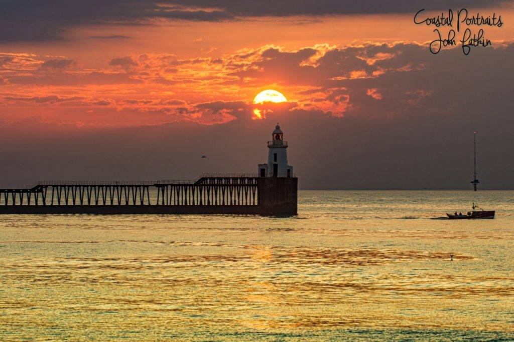 3rd Place Blyth Seascape ( Lighthouse & Pier ) at sunrise by Coastal Portraits @johndefatkin