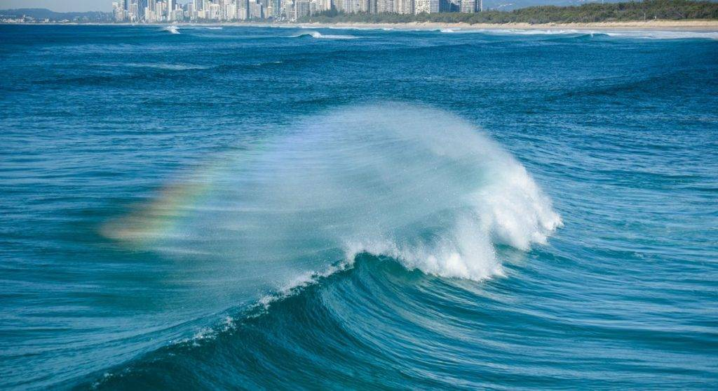 3rd Rainbow-wave at Surfers Paradise, Queensland by Judy Leitch @leitchbird