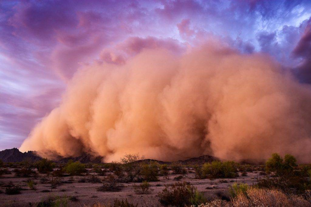 Haboob pushing all the way across the central Arizona desert by John Sirlin @SirlinJohn