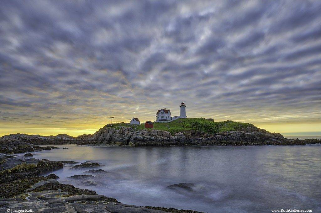 Quietude at Nuble Lighthouse on Cape Neddick, Maine by Juergen Roth @naturefineart
