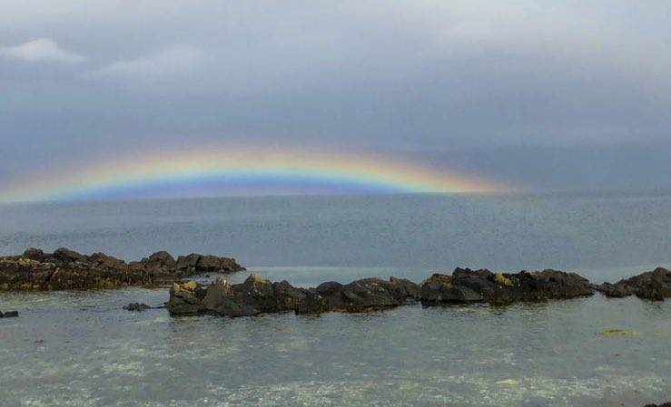 Rainbow on the Sound of Sleat from Armadale, Isle of Skye by James MacInnes @Macinnesplant