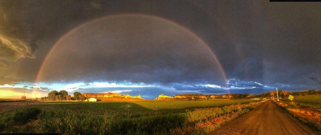 Rainbow over Scotts Bluff National Monument in western Nebraska by Rick Myers @RickMyers2