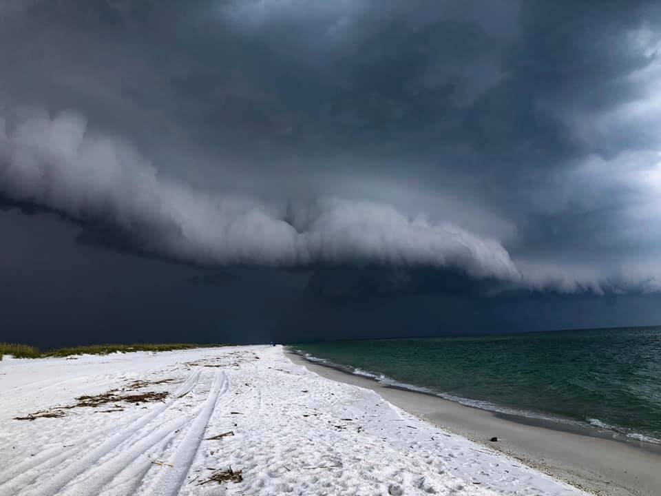 Shelf cloud on Pensacola Beach by Terri Green @TerriGreenUSA