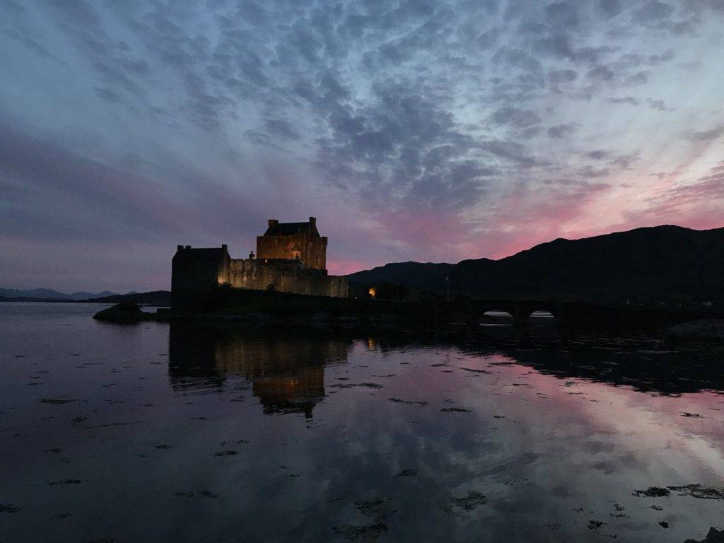 Skies and symmetry at Eileandonan Castle by James MacInnes @Macinnesplant