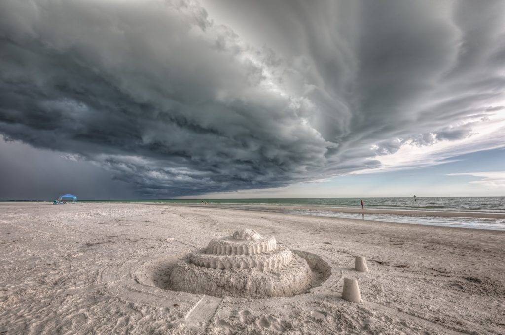 The Storm and the Sandcastle - Siesta Key - Florida by Ronald Kotinsky @rkotinsky