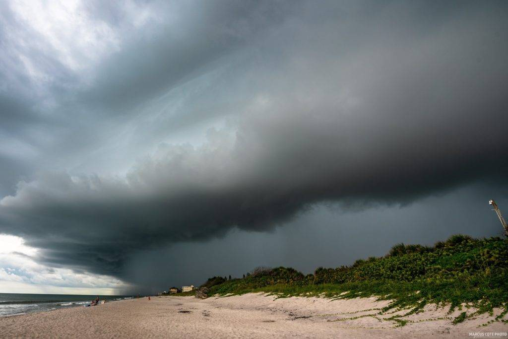 Thunderstorms at Satellite Beach, FL. by Marcus Cote @marcuscotephoto