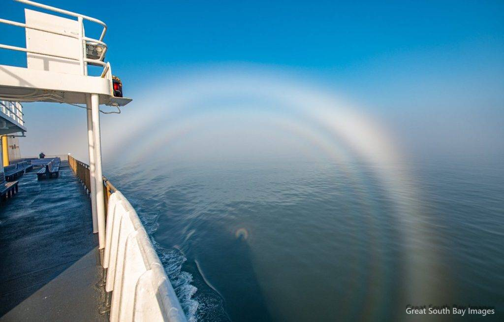 Triple Fog bow on the way across Long Island Sound by Mike Busch/Greatsouthbayimages @GSBImagesMBusch