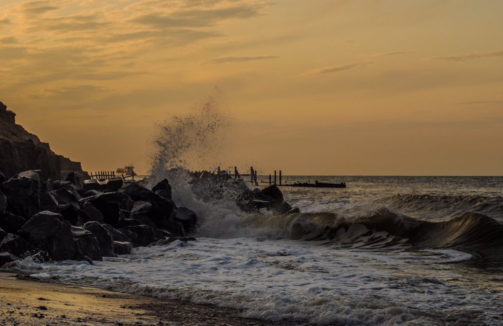 1st Place The sea and sunset in Happisburgh, Norfolk by Veronica @VeronicaJoPo