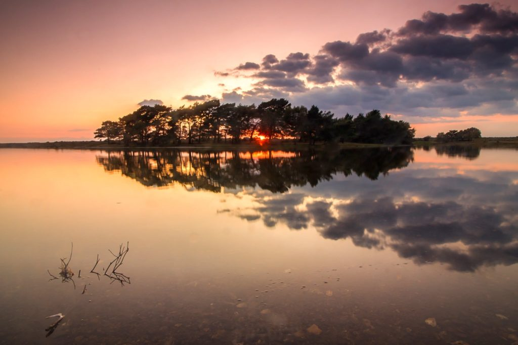 3rd Place Sunset from Hatchet Pond in the New Forest by Rachel Baker @Saintsmadmomma
