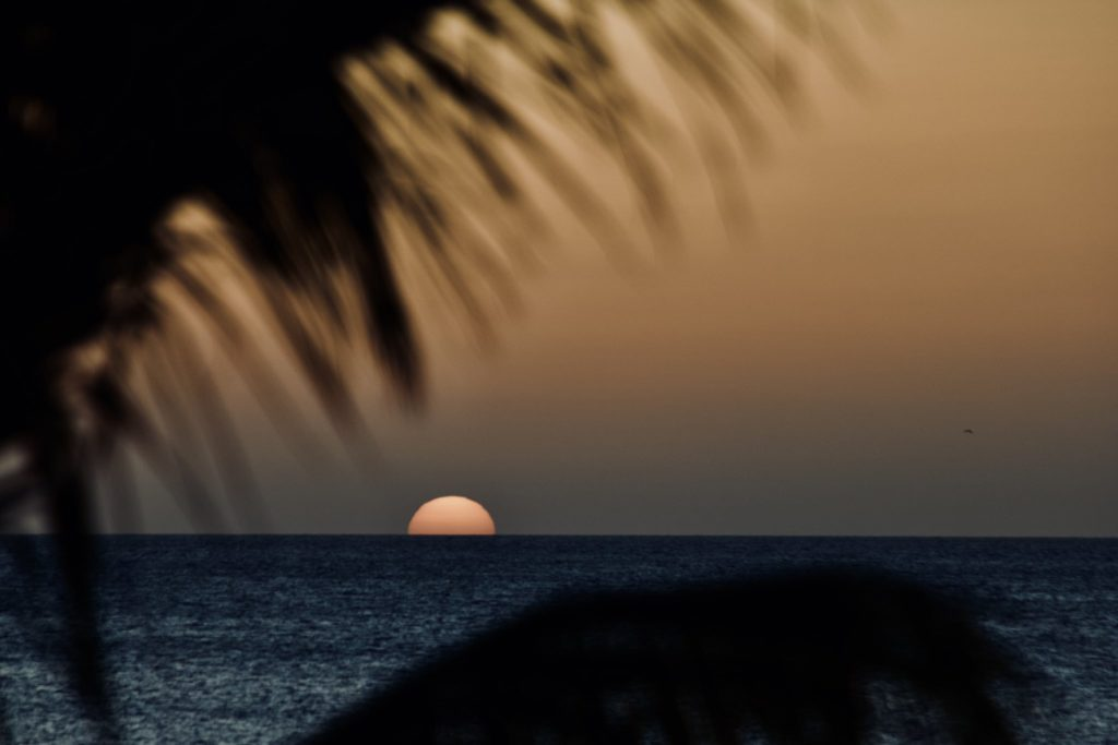 3rd Place Sunset over the coast of Bonaire by ish @ishysan
