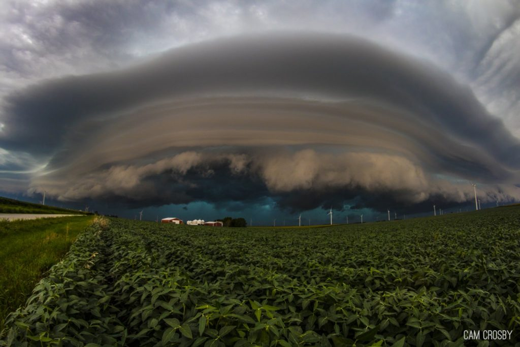 Beautiful Shelf Clouds over Central Illinois by Cam Crosby @Cam_SVP
