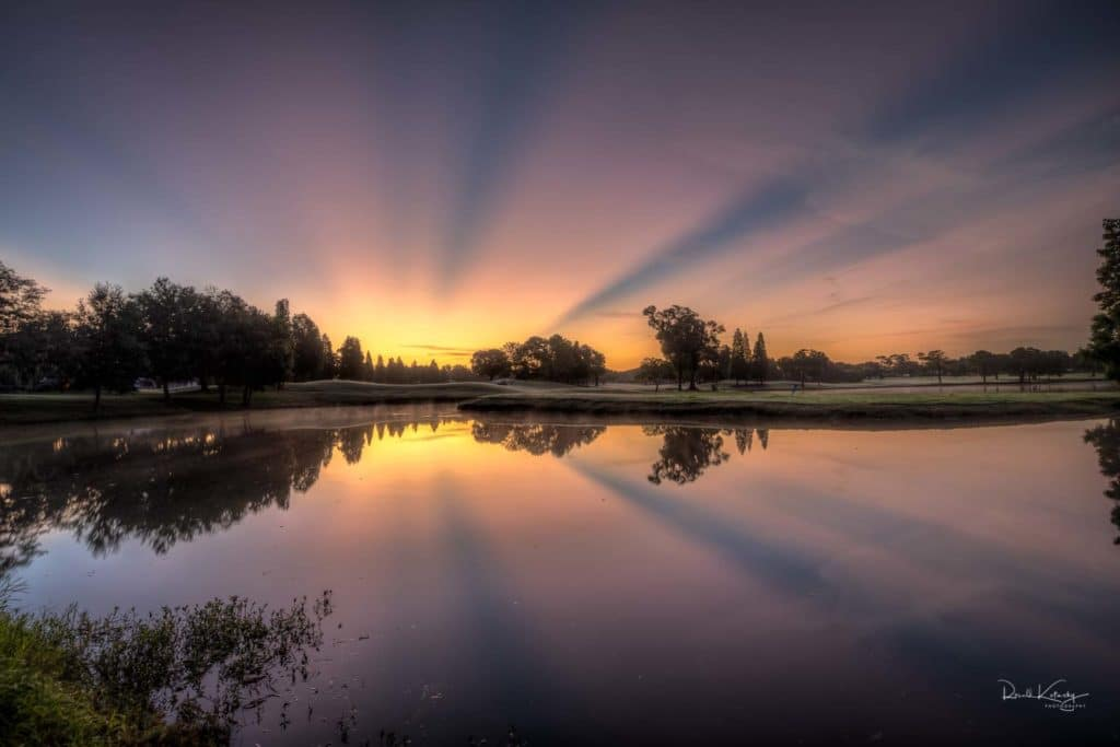 Crepuscular ray sunrise on the east coast of Florida by Ronald Kotinsky @rkotinsky