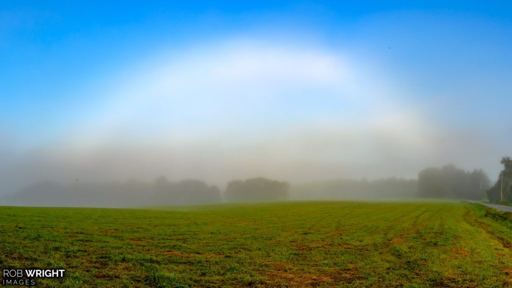 Fogbow in Rollinsford, NH by Rob Wright Images @RobWrightImages