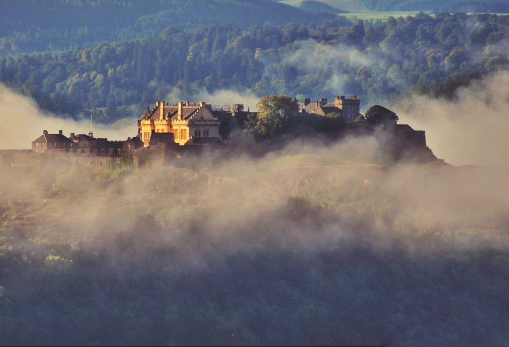 Stirling Castle shrouded in the early morning mist by Charles McGuigan @CharlesMcGuiga2