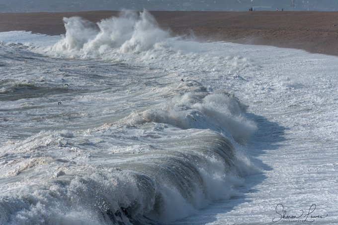 Waves at Chesil Beach Dorset by Sharon Lowes Photography @SharonLowesPho1