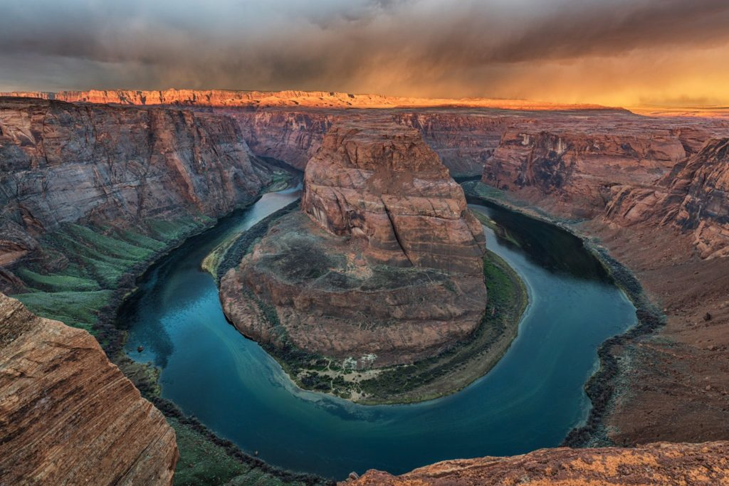 2nd Place A cloudy morning at Horseshoe Bend near Page, Arizona by Michael Ryno Photo @mnryno34