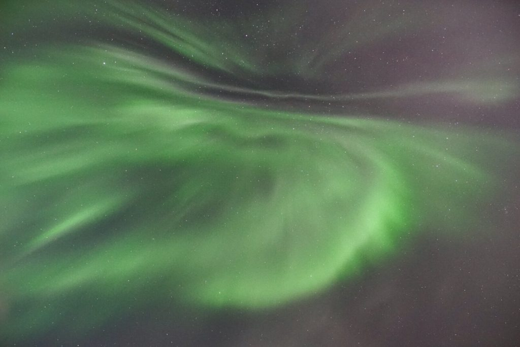 She's brewing in the north! Aurora Borealis by Adrien Mauduit @NightLights_AM