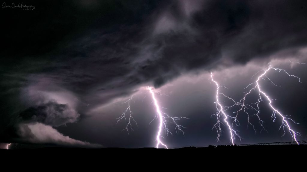 2nd Place Lightning storm from a Selden KS storm by Laura Hedien- Storm Clouds Photography @lhedien